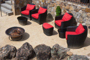 Elegant Backyard in a Napa Valley Winery